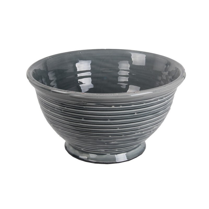 Privilege Grey Large Ceramic Bowl (15x15x8)