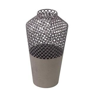 Privilege Grey Small Metal Vase