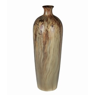 Privilege Green Marble Finish Large Ceramic Vase