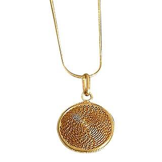 Handmade Gold Overlay 'Starlit Suns' Necklace (Peru)