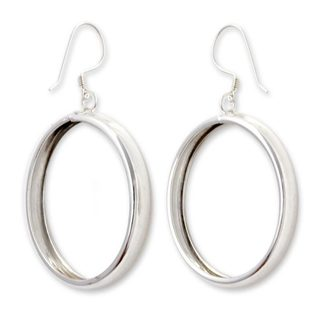 Handmade Sterling Silver 'Perfect Halo' Earrings (Indonesia)