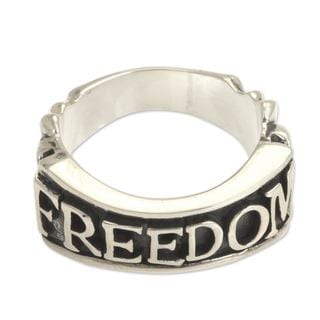 Handcrafted Men's Sterling Silver 'Freedom' Ring (Indonesia)