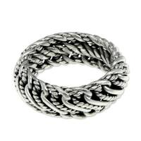 Handmade Men's Sterling Silver 'Infinity Wave' Ring (Indonesia)