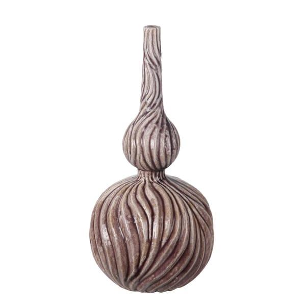 Privilege Brown Small Ceramic Vase