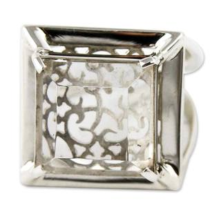 Handmade Sterling Silver 'Charm of Lima' Quartz Ring (Peru)
