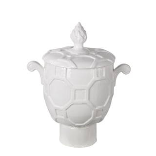 Privilege White Large Vase with Lid