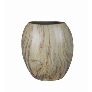 Privilege Green Marble Finish Flat Ceramic Vase