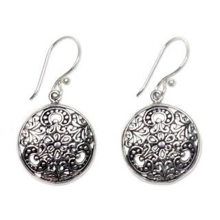 Handmade Sterling Silver 'Sacred Moon' Earrings (Indonesia)