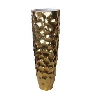 Privilege Gold Large Ceramic Vase