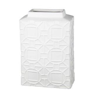 Privilege White Large Ceramic Vase