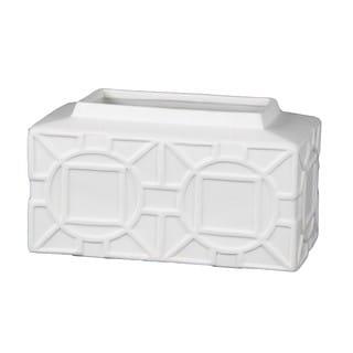 Privilege White Small Ceramic Decorative Vase