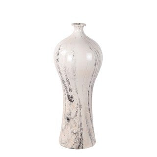 Privilege White Marble Medium Ceramic Vase