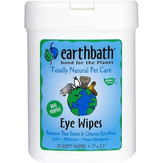 Earthbath Eye Wipes for Dogs and Cats (25 Count)