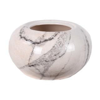 Privilege White Marble Small Ceramic Vase