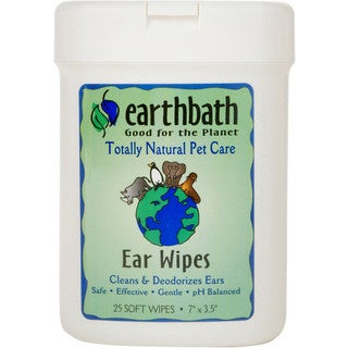 Earthbath Ear Wipes for Dogs and Cats (25 Count)