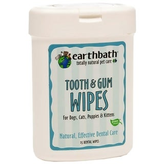 Earthbath Tooth and Gum Wipes for Dogs and Cats (25 Count)