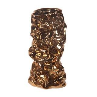 Privilege Copper Metallic Medium Ceramic Vase