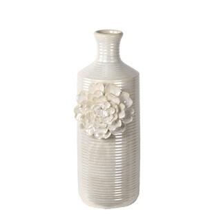 Privilege Antique White Antique White Small Flower Vase