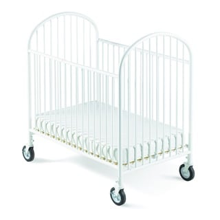 Foundations Classico Mini with Mattress and 4 inch Evacuation Casters
