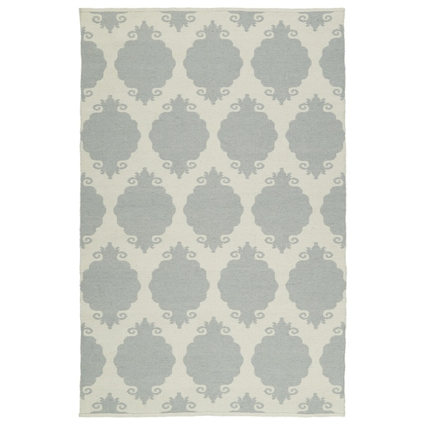 Indoor/Outdoor Laguna Grey Medallions Flat-Weave Rug - 9' x 12'