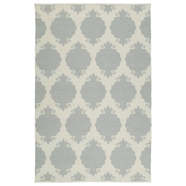 Indoor/Outdoor Laguna Grey Medallions Flat-Weave Rug - 8' x 10'