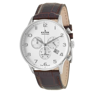 Edox Men's 'Les Vauberts' Stainless Steel Swiss Quartz Watch