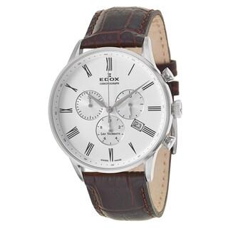 Edox Men's 'Les Vauberts' Stainless Steel Swiss Quartz Watch