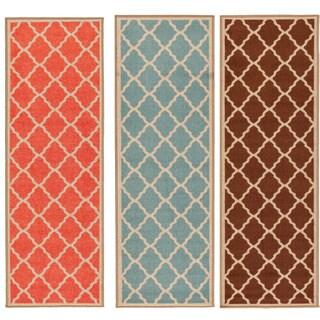 Ottomanson Prestige Collection Orange Contemporary Moroccan Trellis Design Runner Rug (1'8 x 4'11)