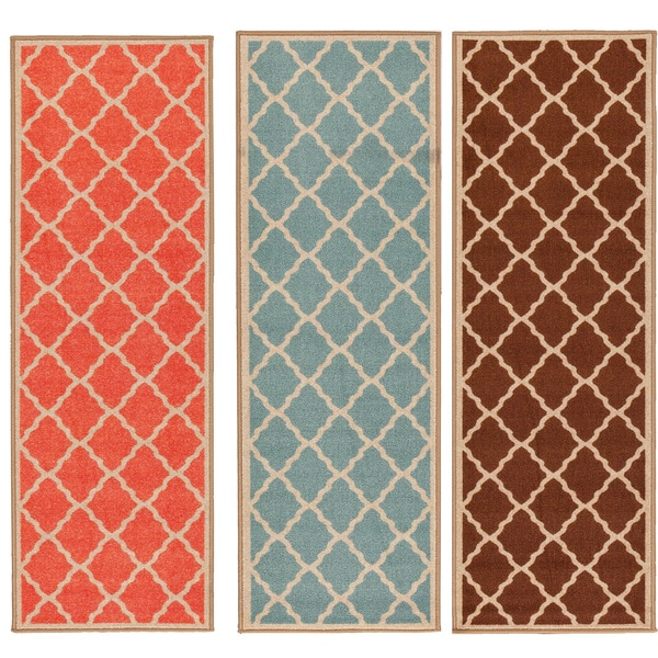 Shop Ottomanson Prestige Collection Orange Contemporary