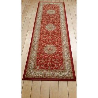 Ottomanson Prestige Collection Red Traditional Medallion Design Runner Rug (1'8 x 4'11)