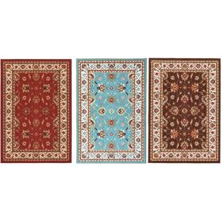 Ottomanson Prestige Collection Red Traditional Persian All-Over Patern Design Area Rug (3'3 x 5'0)