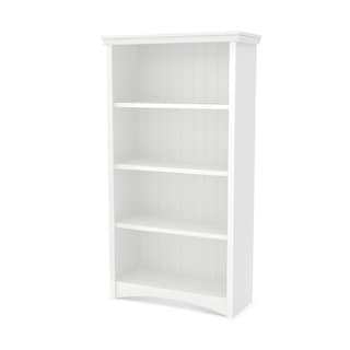 South Shore Pure White Gascony 4-shelf Bookcase