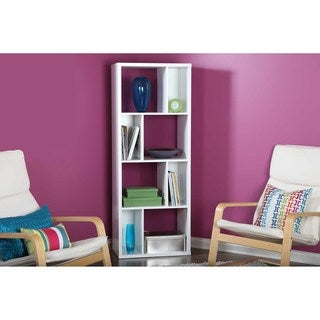 South Shore Pure White Reveal 8-compartment Shelving Unit
