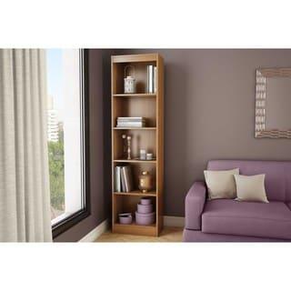 south shore axess morgan cherry 5shelf narrow bookcase