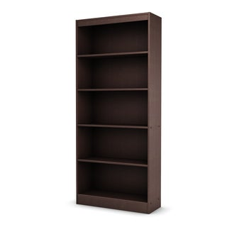 South Shore Chocolate Axess 5-shelf Bookcase