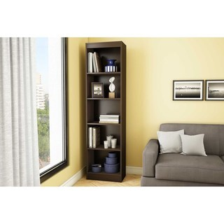 South Shore Chocolate Axess 5-shelf Narrow Bookcase