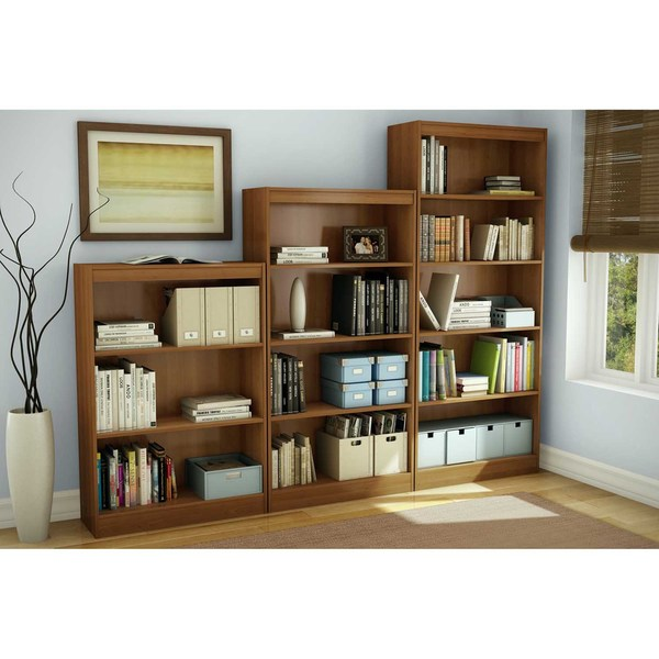 South Shore Morgan Cherry Axess 4 Shelf Bookcase