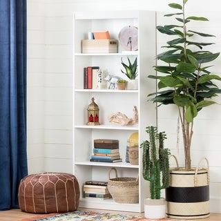 South Shore Pure White Axess 5-shelf Bookcase