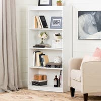 South Shore Pure White Axess 4-shelf Bookcase