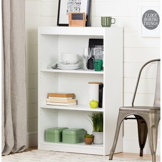 South Shore Pure White Axess 3-shelf Bookcase