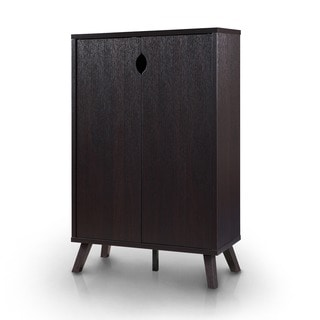 Furniture of America Missina Modern Cappuccino 5-Shelf Enclosed Cabinet