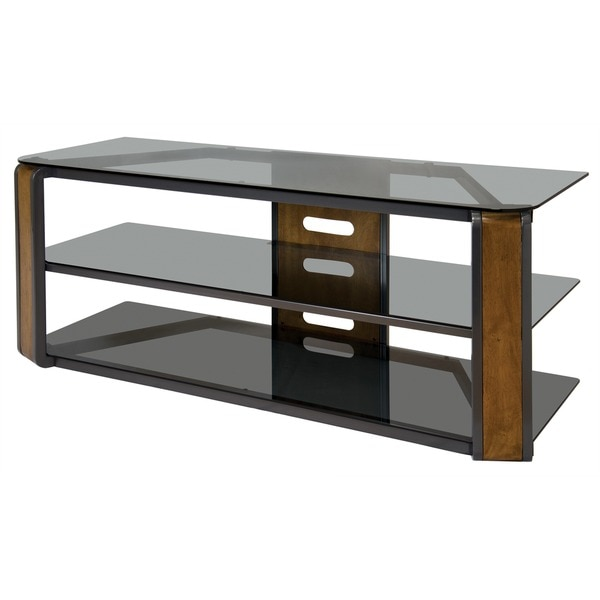 shop bell 39 o avsc2131 55 inch natural finished tv stand for tvs up to 60 inches free shipping. Black Bedroom Furniture Sets. Home Design Ideas