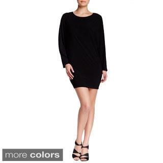 Women's Fashion Dolman Sleeve Short Fitted Dress-