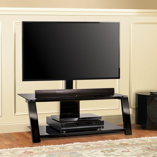 Shop Bell O Tp4444 Triple Play 44 Inch Black Tv Stand For
