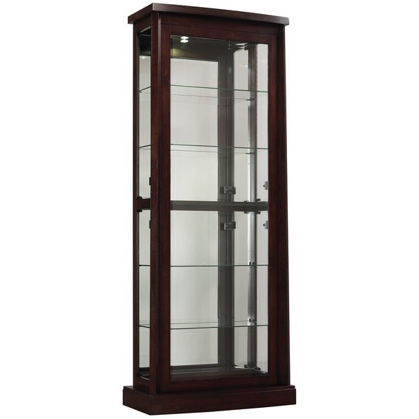 BellO Boomerang Embossed Midnight Cherry Curio Cabinet