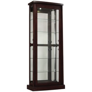 Bell'O Boomerang Embossed Midnight Cherry Curio Cabinet