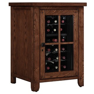 Dakota Right Wine Cooler Pier in Caramel Oak