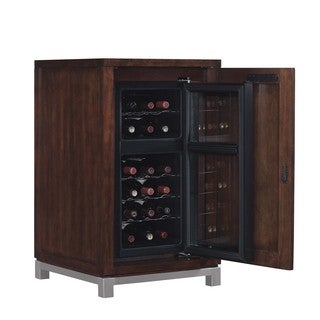 Wesleyan Meridian Cherry Right Wine Cabinet