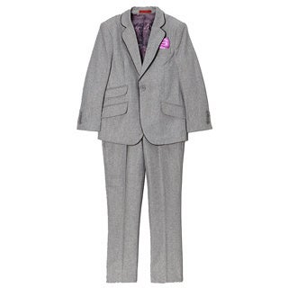 Boys' Wool Blend Solid 2-piece Suit