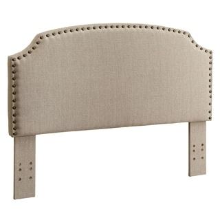 Furniture of America Emira Adjustable Taupe Flax Upholstered Headboard